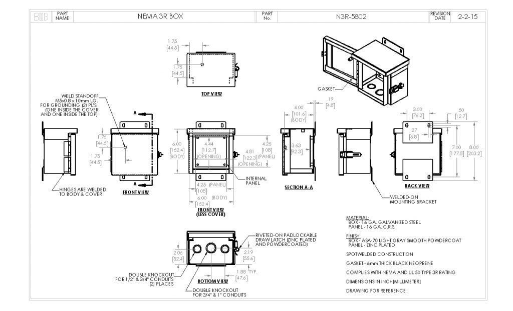 N3R-5802 Dimensions